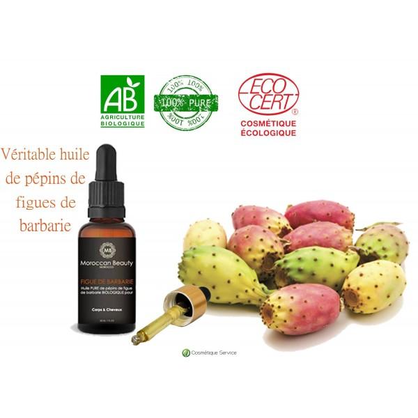 Huile de graines de figue de barbarie certifié 15ml - MOROCCAN BEAUTY